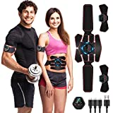 Moonssy Electroestimulador Muscular, EMS Estimulador Muscular Abdominales, para Abdomen/Cintura/Pierna/Brazo