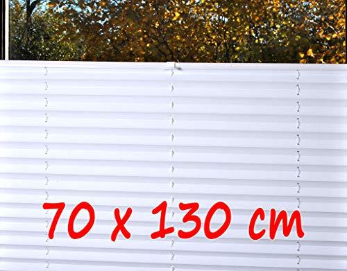 KS-Direkt Thermo-Plisse Plissee ohne Bohren Plise Faltrollo Jalousie Faltrollo Rollo (70 x 130)