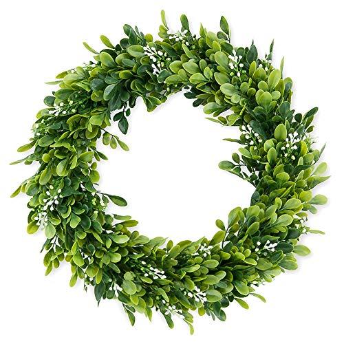 Souarts Eucalyptus-Wreath Artificial Wreath Eucalyptus Leaves Wreath Eucalyptus Garland for Home Office Wall Wedding Decor Large Eucalyptus Wreath Bodhi Garland