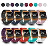 AIUNIT Compatible Ionic Bands for Men Women Teens Kids Small with Burnt Orange Buckle, Replacement Strap Sport Accessory Wristband for Ionic Smart Watch