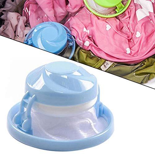1PC Waschzubehör/starke Reinigung der Tierhaare/Floating Lint Hair Catcher Mesh Pouch Waschmaschine Wäschefilterbeutel AMhomely (Blau)