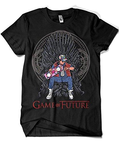 Camisetas La Colmena 1501-Game of Thrones - Game of Future (Negra, S)