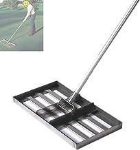 Golf Tuin Gras, Gazon Nivellering Hark, Met 43 Inch Handvat, Zwaar Roestvrij Staal Grote Capaciteit Gazon Push Tool Golfui...