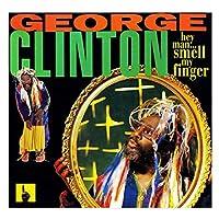 Xianrenge ジョージクリントンのアルバムカバーを印刷しますねえ、男、私の指の匂いを嗅ぐキャンバスポスターウォールアートキャンバスに印刷リビングルーム-24X24インチX1フレームレス