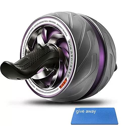 bjblsnz Rueda Gigante Rueda Abdominal Entrenamiento Abdominal Rebote automático Dispositivo Abdominal Mute Home Fitness Push-up Wheel