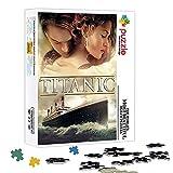 Puzzle para adultos 500 piezas cartel de la película Titanic rompecabezas de madera juego de póster de rompecabezas desafiante, rompecabezas de pintura de decoración de pared 52x38cm