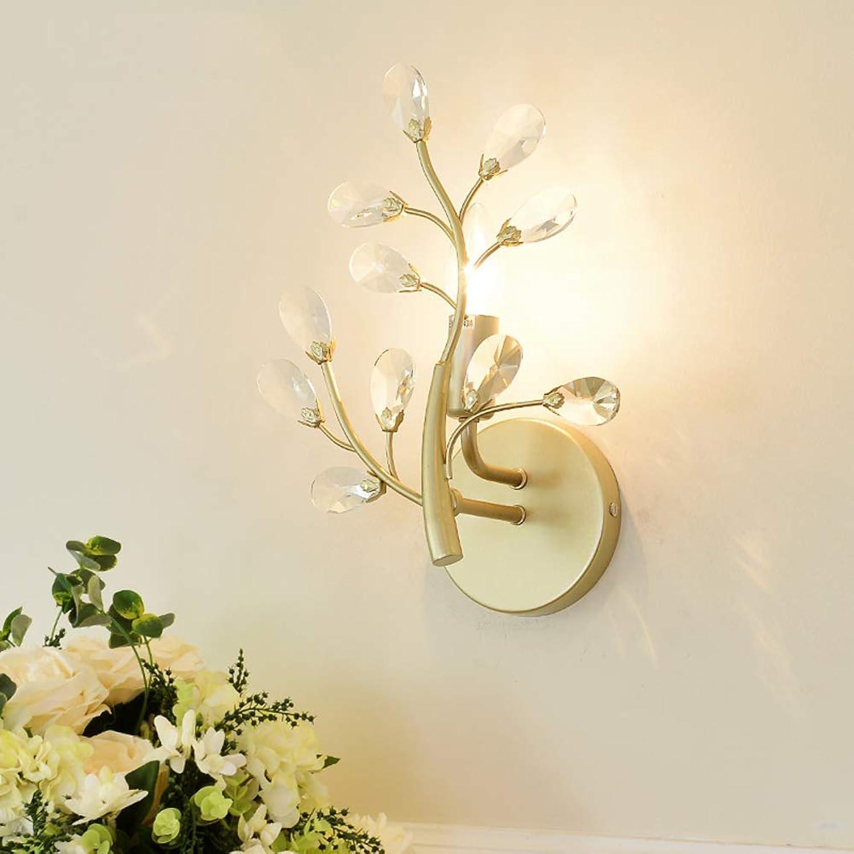 Warm Kristall Kreative Wand Waschen Lampe, E14 Wandleuchte Dekoration Metall Spot Licht Schlafzimmer Wohnzimmer Shop Cafe Innen 32x22 cm Beleuchten Sie Ihr Zuhause (Farbe   Gold)