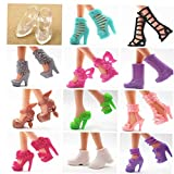 PiniceCore 15 Pares Zapatos Zapatos Lindos para Barbi Barbi para Accesorios de Las muñecas Juguetes de niña Juguetes Estilo al Azar