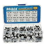 BOJACK 10 Valori 180 Pezzi 1 uF ~ 1000 uF SMD Kit assortimento di condensatori elettrolitici in alluminio