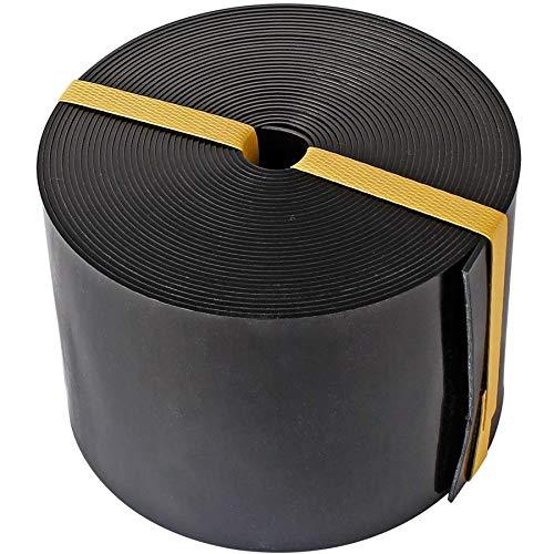 AYITOO Rasenkante Kunststoff, Rasen Beeteinfassung Beetumrandung Mähkante Profilkante für Kurven,PE Rasenkanten Palisade (10m*12cm) Schwarz