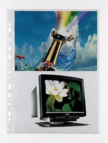 Favorit 100460149 Busta a Foratura Porta Fotografie con 4 Tasche Formato 21X15 cm, Confezione da 10 Pz.