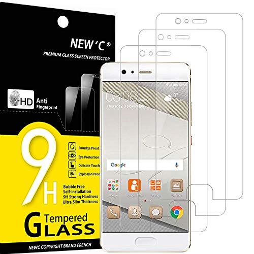 NEW'C 3 Stück, Schutzfolie Panzerglas für Huawei P10, Frei von Kratzern, 9H Härte, HD Displayschutzfolie, 0.33mm Ultra-klar, Ultrabeständig