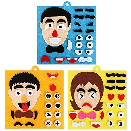 Nice2you Lavagna occupata, Giocattoli Montessori per Bambini Espressioni facciali Giocattolo per l'educazione dei Bambini Sviluppa Le abilità di Base Scheda attività Ragazzi Ragazze