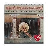 Póster de American Singer Dolly Parton Heartbreak Express, lienzo para decoración de pared, pintura para sala de estar, dormitorio, decoración de 40 x 40 cm, estilo Unframe-1