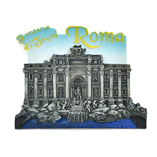 Kesheng Imán de nevera Trevi con fuente Roma Italia para decoración del hogar y la cocina