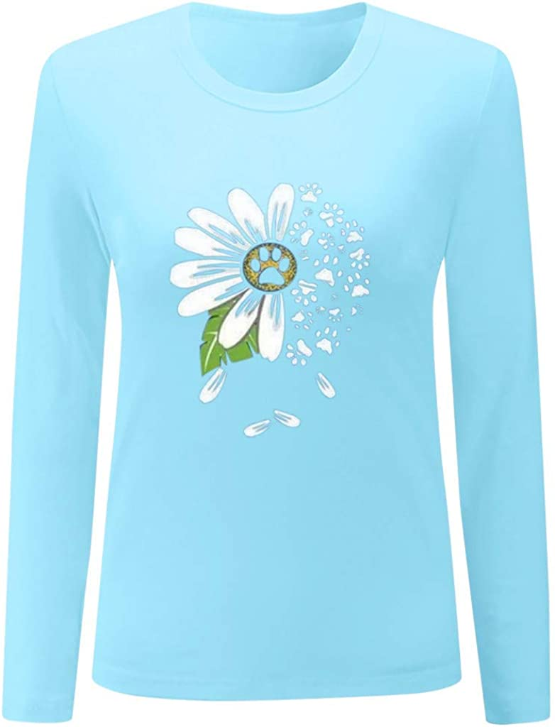 Sweatshirts for Women,Womens Color Block Pullover Print Sweatshirt Long Sleeve Loose Tunic Shirts Tops
