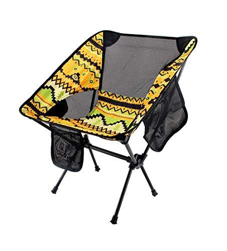 FGGTMO Chaise de Camping Portable, Highlander Pliant extérieur Sit Mat léger rembourré Portable, Idéal for extérieur, Pêche, Festival, Plage, Carry Bag Voyage (Color : Yellow)