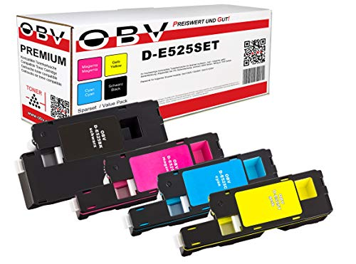 OBV 4X kompatibler Toner als Ersatz für Dell E525 E525W schwarz Cyan Magenta gelb