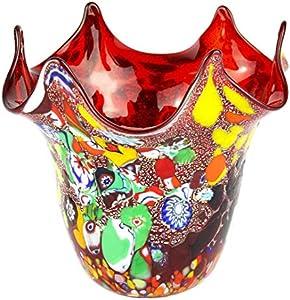 Cristal de Murano original OMG Vento - Rojo