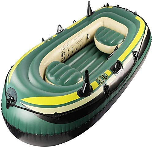 Zwembad, 3-persoons opblaasboot om peddels en handmatige luchtpomp met hoge output te sturen Drie opblaasbare boot Drift Boat Kayaking Water Toy