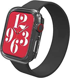 Max Protection - Tempered Glass 360 Screen Protector and Bumper - Made for Apple Watch Series SE, Series 6, Series 5, Series 4 (44mm) - Clear