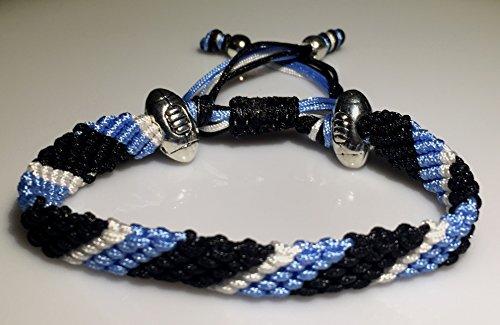 Mary's Terrace bracelet of cordes in RUGBY Couleurs. Faite à la Main sur Commande. Toutes les equipes de rugby disponibles EXETER CHEIFS
