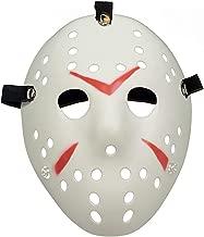 Scary Horror Movie Hockey Goalie Halloween Mask White