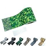 Sichtschutzstreifen Zaun 35 m x 19 cm inkl.20 Clips, Sichtschutz Zaunfolie PVC Sichtschutzstreifen Doppelstabmatten für Gartenzaun, Balkon/Diverse Farben