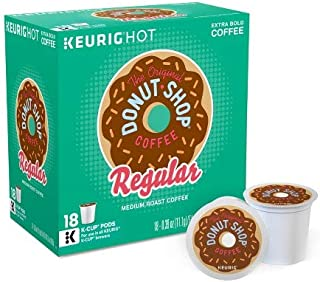 The Original Donut Shop Regular Keurig Single-Serve K-Cup Pods, 18 Count (Packaging May Vary)