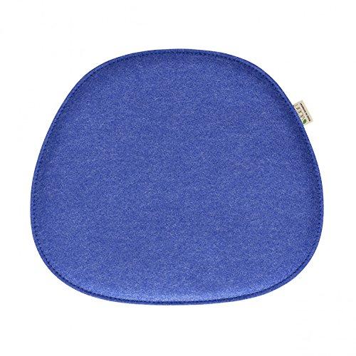 Violan Sitzkissen für Eames Side Chair - 40,5 x 36,5 cm, h 1,8 cm - Dark-Blue