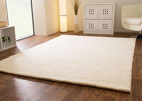 Berber Teppich natur aus 100% Schurwolle Nador 15/15 double Wollweiss in 27 Größen, Größe: 140x200 cm