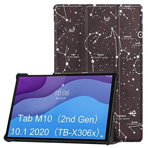 VOVIPO Funda Lenovo Tab M10 HD (2.a generación) 10.1 TB-X306 Tablet 2020 - Funda rígida con Soporte ultradelgado Smart Cover para Lenovo Tab M10 HD (2.a generación) 10.1 Tablet(TB-X306F.TB-X306X)