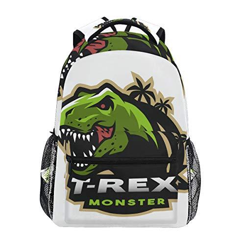 Mochila Escolar de Dinosaurio T-Rex para Mochila de Viaje para niños, niñas y niños