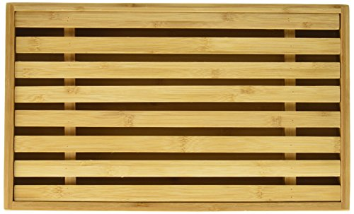 Danesco Bamboo Bread Cutting Board with Crumb Catcher, 15 by 9-Inch,Brown