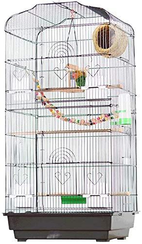 Jaula de pájaros de Parrot de Vuelo Grande para De Metal Plegable Hierro Forjado Jaula de pájaros Pequeño Medio y Gran Loro Pájaro Villa de Aves Aumento de la cría Bird Edificio Ornamental Hundido