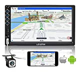 Double Din Stereo 7 Inch Car Stereo Receiver Touch Screen FM Radio Bluetooth Video Car Multimedia MP5 Player with Backup Camera Support Phone Mirror Link/USB/SD/AUX, Hands Free Calling