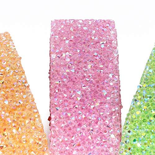 DAUERHAFT 3 Piezas de Cadena de Diamantes de imitación de 3.3 pies para decoración de Accesorios de Ropa