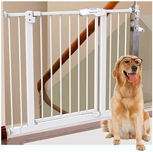 Vallas Escalera y pared del pasillo Montada Dual Lock Puerta del bebé en Instalación simple ajustable adicional Escalera hijo seguro seguridad de la puerta Punch-libre de la presión de la cerca del an
