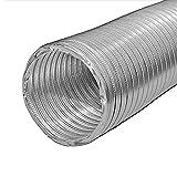 Lambro 60633 Semi-Rigid Aluminum Dryer Ducting, 4 inch x 8 Ft, Silver