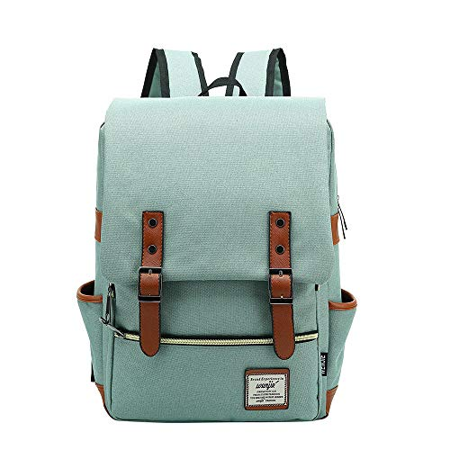 Generic Brands Fashion Vintage Laptop Backpack Women Canvas Bags Men Canvas Travel Leisure Backpacks Retro Casual Bag School Bags For Teenager#