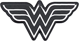 Fan Emblems Wonder Woman Logo Car Decal Domed/Black/Chrome Finish, DC Comics Automotive Emblem Sticker Applies Easily to Cars, Trucks, Motorcycles, Laptops, Cellphones, Windows, Almost Anything