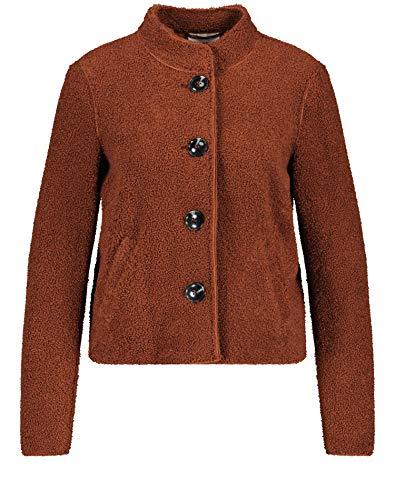 Gerry Weber Damen Jacke aus Teddyfell figurumspielend Zimt 40