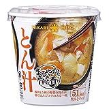 ひかり味噌 カップみそ汁 まろやかな旨みと香り とん汁 1食 ×6個