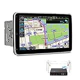 XTRONS カーナビ 2DIN Android10.0 一体型車載PC 10.1インチ 回転可能なモニター フルセグ 地デジ搭載 タッチ連動操作 8コア 4GB+64GB ゼンリン地図付 カーオーディオ Bluetoothテザリング 4G WIFI ミラーリング GPS マルチウインドウ表示 (TIB110SIL-MAP)