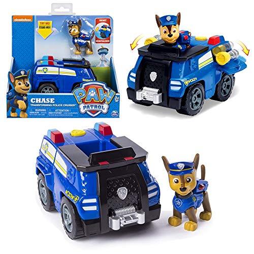 PAW PATROL Auswahl Fahrzeuge   Mit beweglichen Spielfiguren, Figur:Chase Transforming