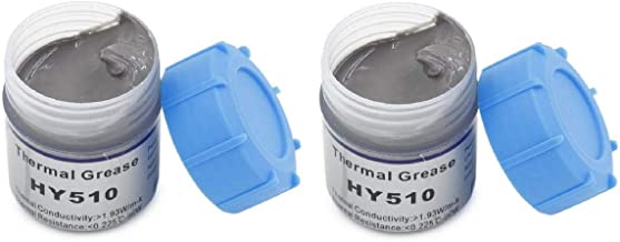 FEDUS 10g Grey Heat Sink Compound Thermal Silicon Conductive Grease Paste for PC CPU GPU Chipset Ovens Cooling Pack of Two