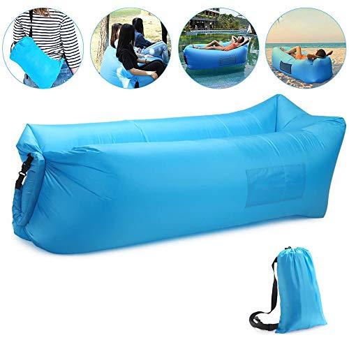 Luftsofa Wasserdichtes Aufblasbares Sofa Air Lounger mit 2 Lufteinlass Laybag Outdoor-Sofa mit Tragebeutel für Camping-Stuhl, Park, Strand, Hinterhof