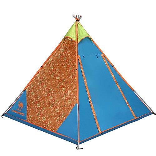 Nouvelle tente de camping tente de camping 3-4 personne extérieure pyramide unique saison des pluies tente