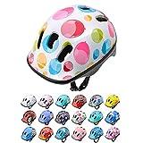 Casco Bicicleta Bebe Helmet Bici Ciclismo para Niño - Cascos para Infantil Bici Helmet para Patinete Ciclismo Montaña BMX Carretera Skate Patines monopatines (S 48-52 cm, Colour Dots)