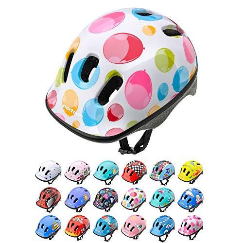 Meteor Casco Bici Ideale per Bambini Caschi Perfetto per Downhill Enduro Ciclismo MTB Scooter Helmet Ideale per Tutte Le Forme di attività in Bicicletta Helmo (XS 44-48 cm, Colour Dots)